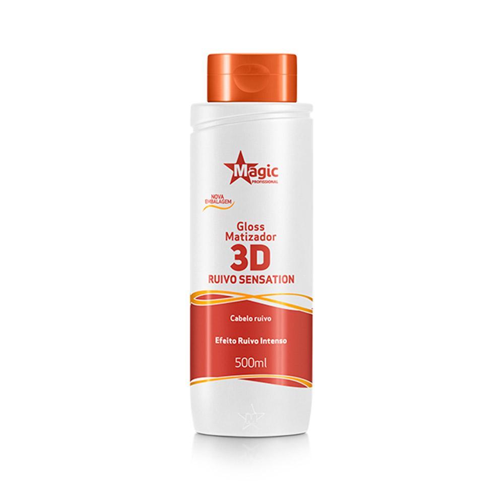 Matizador 3D Ruivo Sensation - Efeito Ruivo Intenso - 500ml