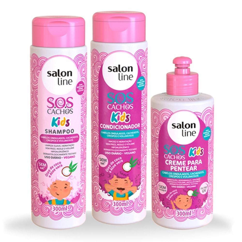 Kit Sos Cachos Kids 3 Produtos Salon Line
