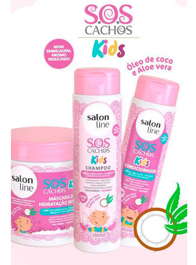Kit SOS Kids Shampoo + Condicionador + Máscara