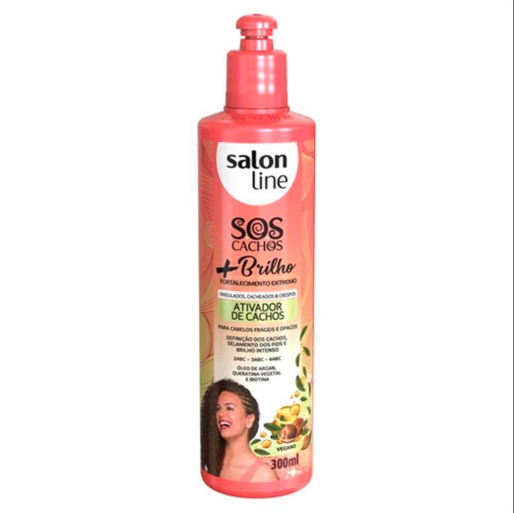 Ativador de Cachos S.O.S Cachos + Brilho Salon Line 300ml