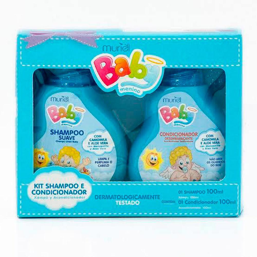 Kit Shampoo E Condicionador Muriel Baby Menino 200ml