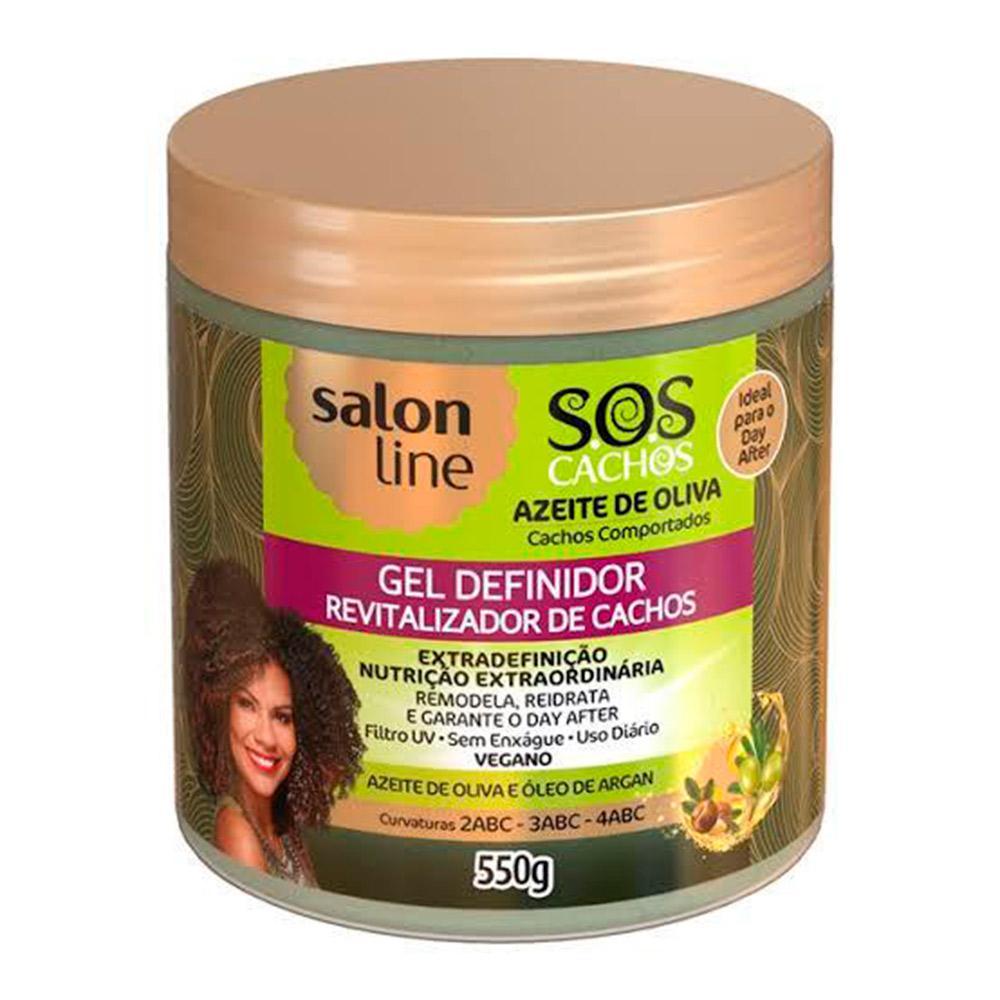 Gel Definidor SOS Cachos Azeite de Oliva Salon Line 550g