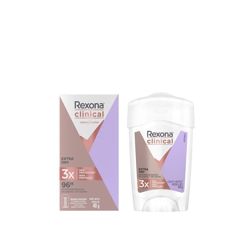 Desodorante Em Creme Rexona Clinical Extra Dry Feminino 48g