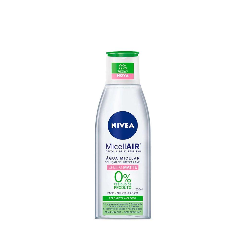 Nivea Micellair Efeito Matte - Água Micelar Solução de Limpeza 7 Em 1 - 200ml