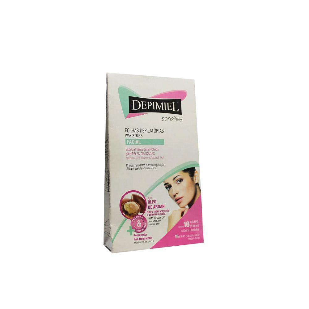 Folhas Prontas Depimiel para Depilação Facial Sensitive - 16 unidades