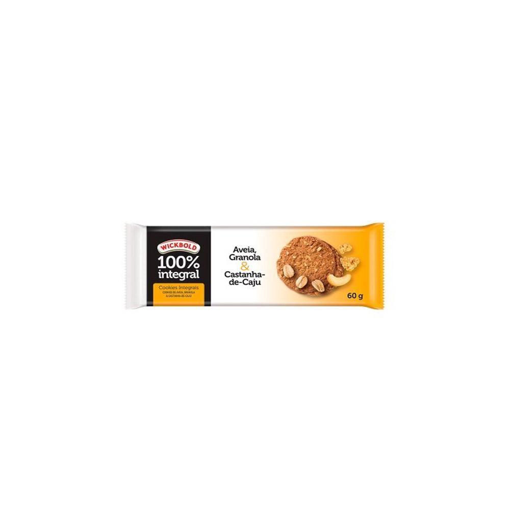Biscoito Cookie Wickbold 100% Integral Aveia/Granola/Castanha 60g