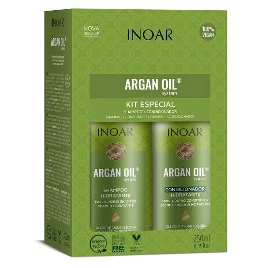 Inoar Kit Argan Oil - Shampoo e Condicionador 250ml