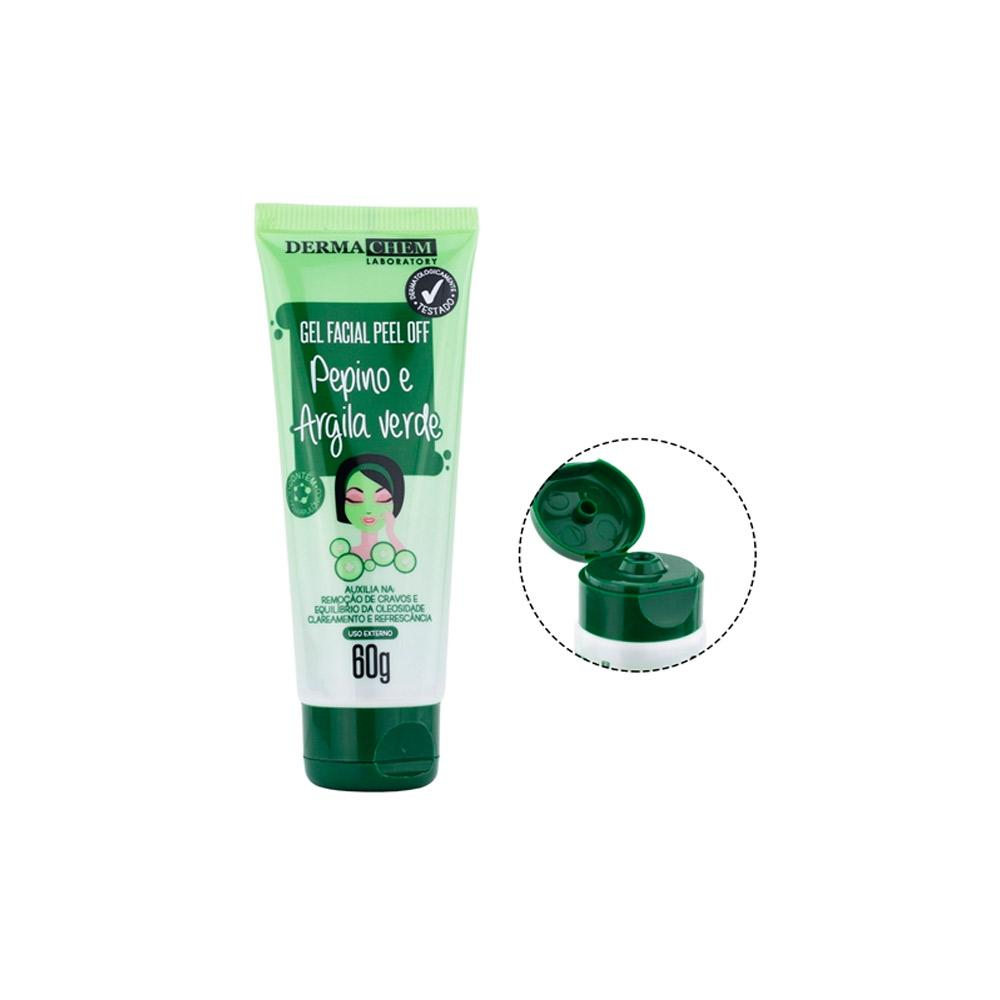 Máscara Facial Gel Peel Off Pepino e Argila Verde - 60g