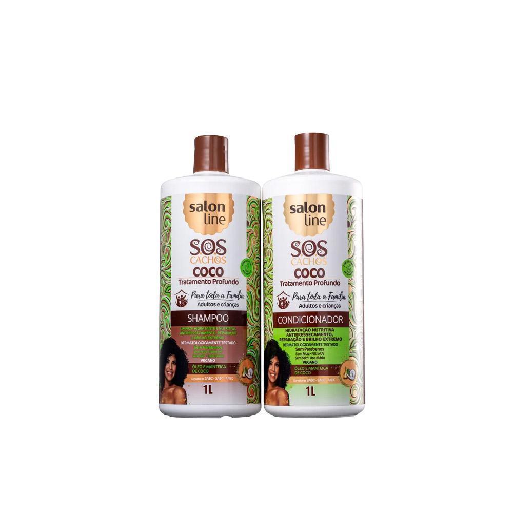 Kit SOS Cachos Coco Profundo Shampoo e Condicionador - 1l
