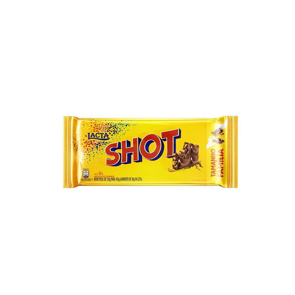 Chocolate Shot ao Leite com Amendoim - 165G