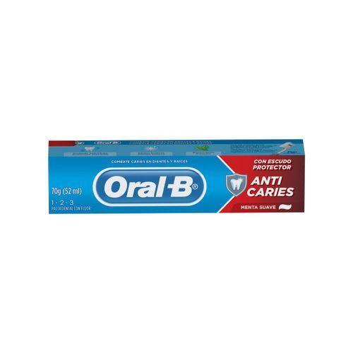 Creme Dental Oral-B 123 Menta Suave 70g