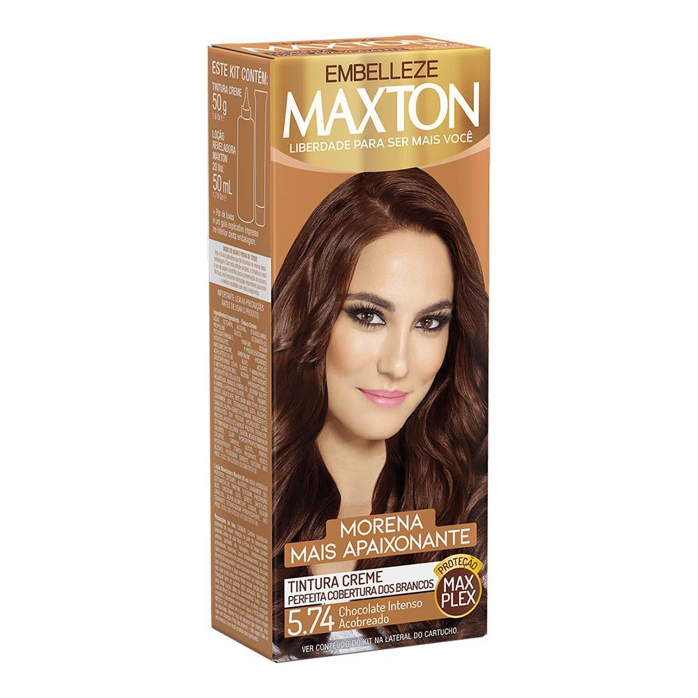 Tinta de Cabelo Maxton Morena Apaixonante Chocolate Intenso Acobreado 5.74