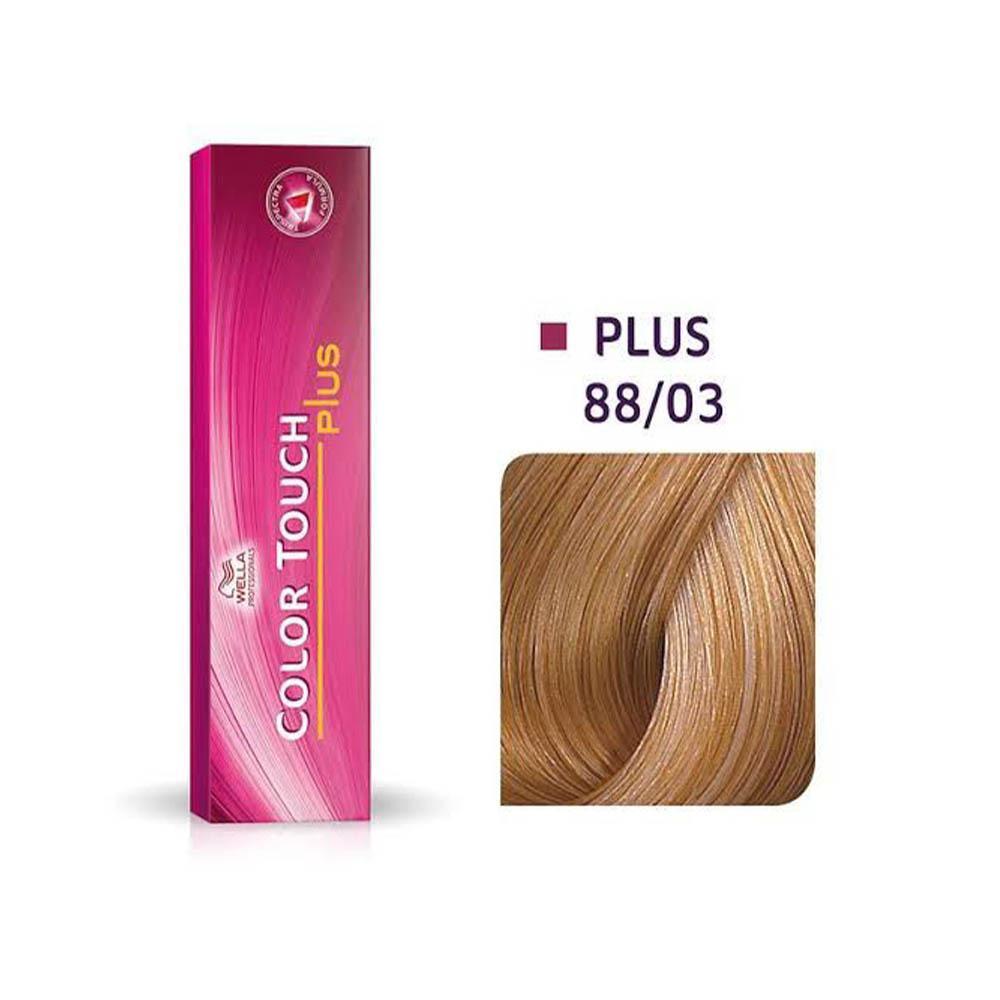 Tonalizante Wella Professionals Color Touch Plus Louro Claro Intenso Natural Dourado  88/03 60g