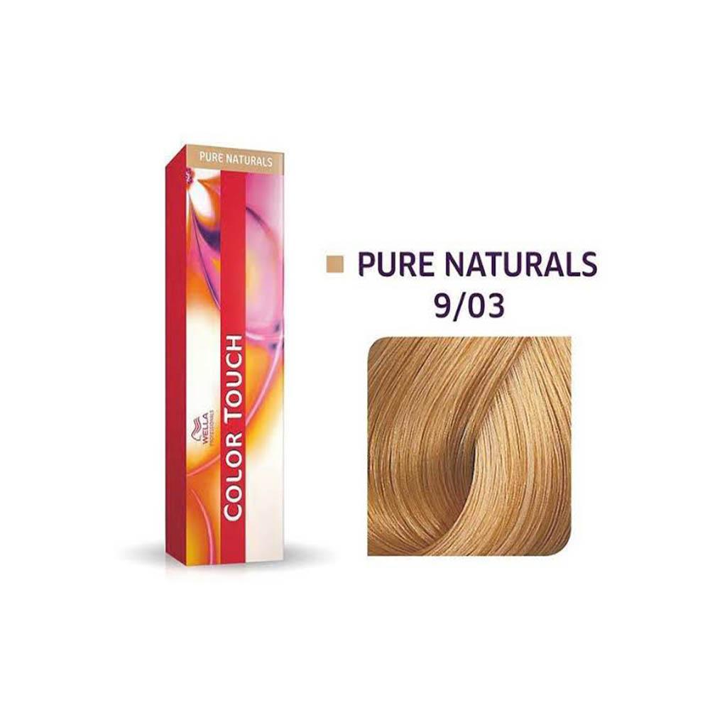 Tonalizante Wella Color Touch 9/03 Louro Ultraclaro Natural Dourado Pure Naturals 60ml