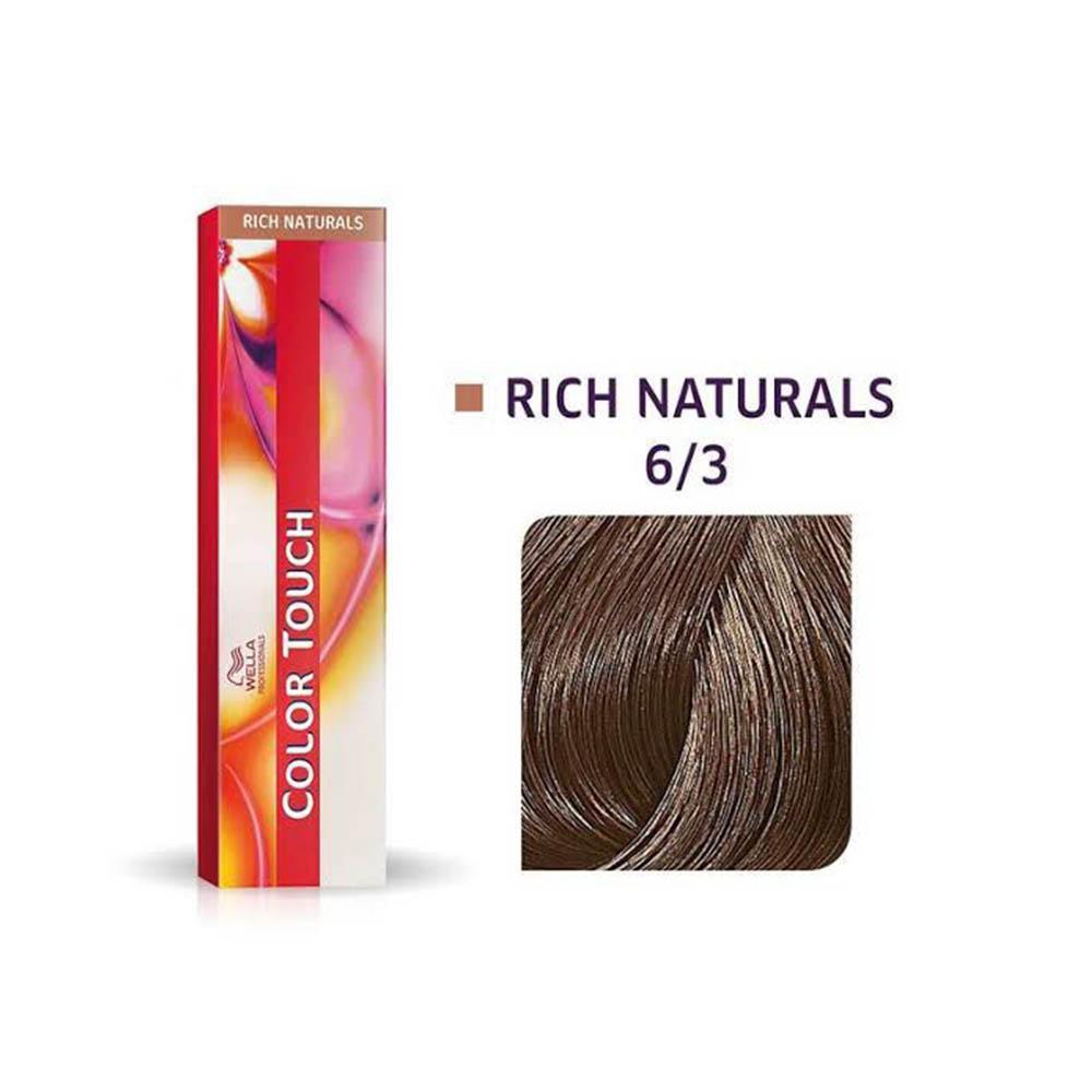 Tonalizante Wella Professionals Color Touch Rich Naturals 6/3 Louro Escuro Dourado 60 g