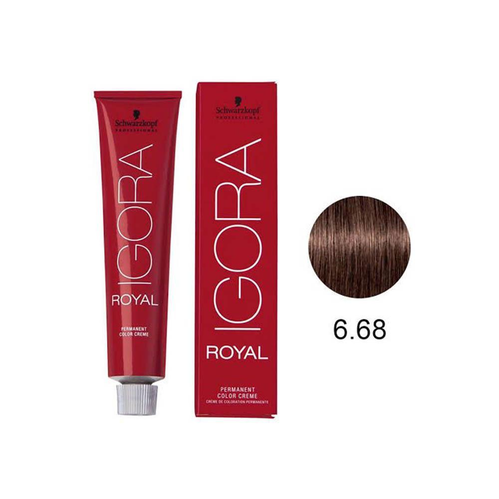 Tinta Coloração Schwarzkopf Igora Royal HD Louro Escuro Marrom Vermelho 6.68 60g